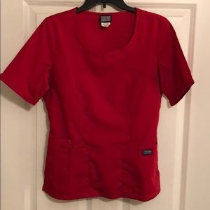 Cherokee Women's Red Scrub top size Small
